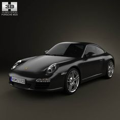 Porsche 911 Carrera Black Edition Coupe 2011 3d model from humster3d.com. Price: $75