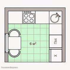 Как разместить мебель на кухне, если пространство не позволяет воплотить самые интересные идеи? Советы дизайнера помогут сделать комфортной и функциональной кухню, площадь которой составляет всего 6 квадратных метров.  Оформить маленькую кухню так, чтобы хватило места для приготовления и приема пищи, а интерьер был гармоничным и стильным – возможно! Главное – придерживайтесь основных правил обустройства малометражной кухни: Не загромождайте пространство массивной мебелью. Верхние шкафчики…