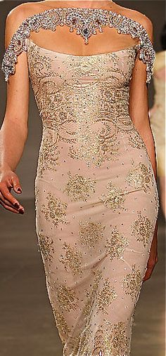 Georges Hobeika...Gorgeous details & fabric. Pick 1-3 details to fit your wedding theme. Get that designer look without the designer $$$, have it custom-made.