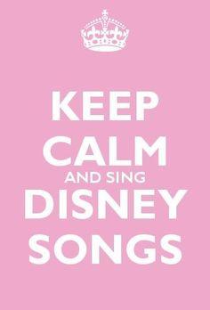 Keep Calm and Sing Disney Songs Estilo Disney, Arte Disney, Disney Magic, Disney Art, Disney Pixar, Tinkerbell Disney, Disney Characters, Quiz Disney, Disney Songs