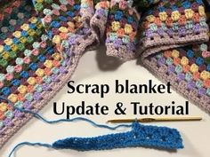 Ophelia Talks about her Scrap Blanket and Pattern. Find out exactly how I am making my scrap blanket! Anja xxx Here are some more of my projects: What do you think about this square? How about having a go at this pattern? Afghan Crochet Patterns, Crochet Afghans, Baby Blanket Crochet, Crochet Gratis, Free Crochet, Knit Crochet, Crochet Shrugs, Scrap Yarn Crochet, Easy Crochet