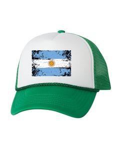 d2b39d715565c6 Argentina Flag Trucker Hat Argentina Hats for Men and Women Argentinian Football  Cap Argentina Socce