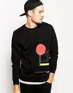 ASOS+Sweatshirt+With+Placement+Bauhaus+Print