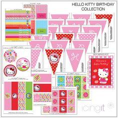 Your next effing birthday? 4th Birthday Parties, Birthday Ideas, Hello Kitty Themes, Strawberry Shortcake Party, Hello Kitty Birthday, Cat Party, Party Time, Scrap, Sanrio