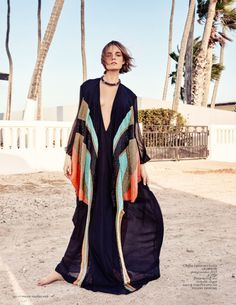 Nimue Smit poses in Aruba for Vogue Netherlands July 2015 shot by Marc de Groot