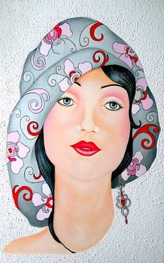 Discover great art by contemporary artist Carmen G. Browse artworks, buy original art or high end prints. Painting People, Woman Painting, Painting Art, Pop Art, Art Deco Illustration, Illustrations, Pinturas Art Deco, Abstract Face Art, L'art Du Portrait