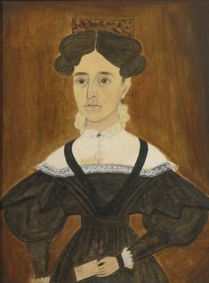 Portrait of a woman. Ruth Whittier Shute and Samuel Addison Shute (1803-1882), (1803-1836). Sold at Sotheby's.