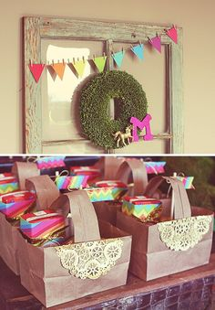 Whimsical rainbow party