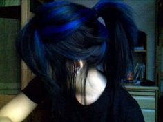 Blue hair - streaks of blue in black hair make the colour more interesting...