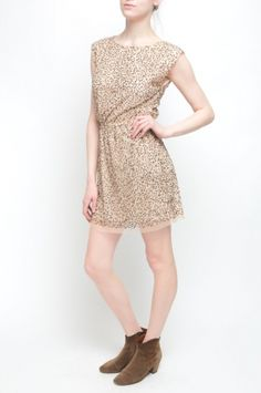 BEATRICE DRESS from Walter Baker. 100% Polyester Elastic Waist Beige $288