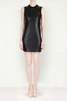 Alexander Wang - Leather with Merino Tank Dress