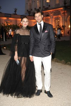 Olivia Palermo in Valentino and Johannes Huebl - Valentino's Fall 2015 Couture Celebration in Rome