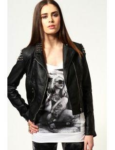 la moda ? Rock And Roll, Leather Jacket, Jackets, Fashion, Studded Leather Jacket, Moda, Fashion Styles, Leather Jackets, Fashion Illustrations