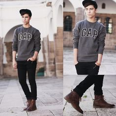Sweater Gap, Hats Bershka, Jeans Cheap Monday, Shoes Bershka    We all know and miss our gap sweaters from third grade.
