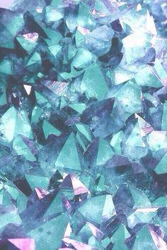 blue, wallpaper, and crystal-bild