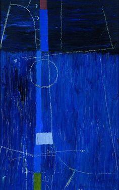 Max Ackermann (1887 - 1975) Komposition in Blau, 1965