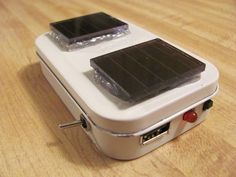 Solar iPhone rechargeable altoids can