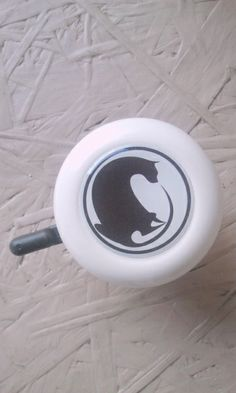 Black cat bicycle bell.