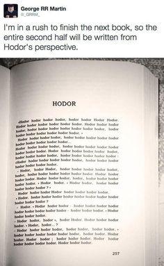 "Hodor. | 33 Jokes Only ""Game Of Thrones"" Fans Will Understand. Am still giggling"