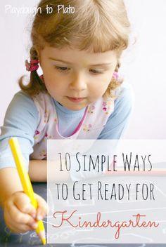 Super helpful FREE printable. 10 simple ways to get ready for kindergarten.