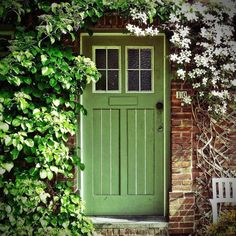 Flora's Cottage, A Country Diary, By Flora Turrill Cool Doors, Unique Doors, Portal, Porch Windows, Windows And Doors, Porches, When One Door Closes, Grades, Door Gate