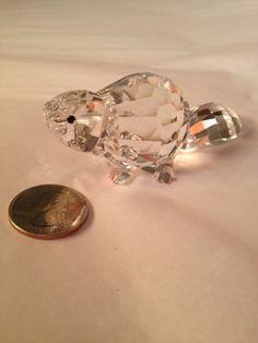 RARE! Swarovski Crystal Beaver Retired Crystal Animal Figurine Vintage 80s Buy it Now! $59.99 FREE shipping