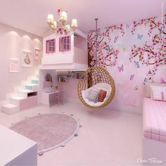 Pink Bedroom Decor, Bedroom Decor For Teen Girls, Girl Bedroom Designs, Teen Bedrooms, Bedroom Ideas, Cute Room Ideas, Cute Room Decor, Home Room Design, Kids Room Design