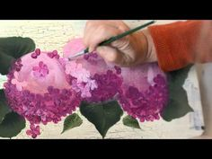 how to paint hydrangeas - YouTube