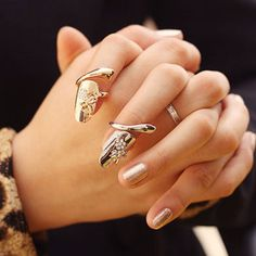 Fashion Rhinestone Embellished Dragonfly Pattern Fingertip Ring For Women (ONE PIECE), COLOR ASSORTED, ONE-SIZE in Rings | DressLily.com