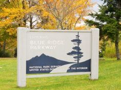 Entrance Sign Blue Ridge Parkway