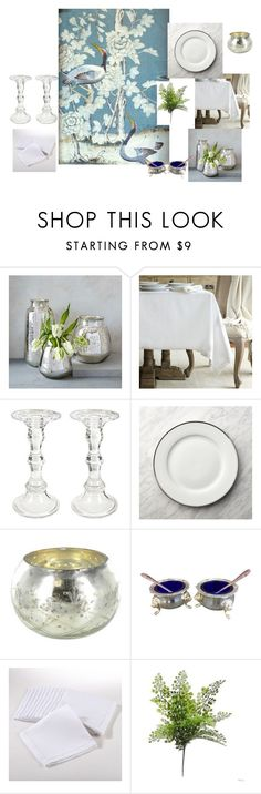 Mark D. Sikes Thanksgiving Table by pillarsdesign on Polyvore featuring interior, interiors, interior design, home, home decor, interior decorating, Saro, Crate and Barrel, West Elm and A&B Home
