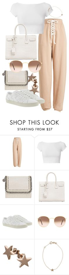 """Untitled #22238"" by florencia95 ❤ liked on Polyvore featuring Puma, Helmut Lang, STELLA McCARTNEY, Yves Saint Laurent, Ray-Ban and Kismet"