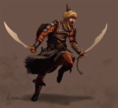 Persian warrior swordsman