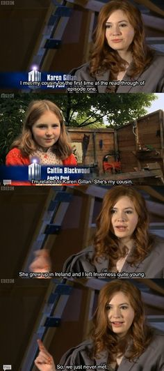 Karen Gillan and Caitlin Blackwood << I swear every English tv show just uses the same characters and their families