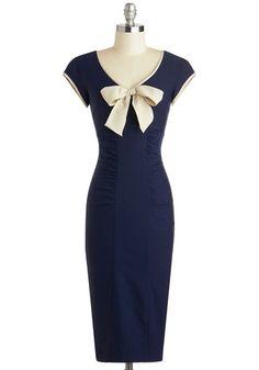 Sheath a Lady Dress in Navy, #ModCloth