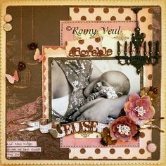 Layered Papers by Romey Veul using Graphic 45 - for simpelscrappen.blogspot.com |  Wendy Schultz ~  Heritage & Vintage Pages.