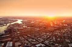 - Federation Square East - image by Peter Glenane E Gate, Central Business District, In The Heart, Uni, Airplane View, Melbourne, Sunset, City, World