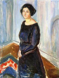Edvard Munch ~ Inger Barth, 1921