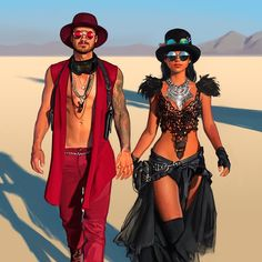 My playa and forever love 🔥 - Burning man festival - Mens, Women's Outfits Burning Man Style, Estilo Burning Man, Ropa Burning Man, Burning Man Fashion, Burning Man Men, Burning Man Makeup, Burning Man Costumes, Burning Man Outfits, Burning Man Clothing