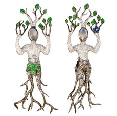 Tree-men from Lydia Courteille's Homage to Surrealism collection.