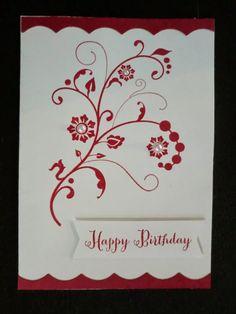 pinterest su minikarten | Stempel : der wunderschöne Schnörkel ist aus dem Stampin up Set ...