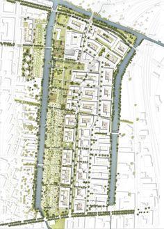 Agence Ter & Hosoya Schaefer Architects AG (2016): Auf gute Nachbarschaft – Wohnen und Arbeiten zwischen den Kanälen, Hamburg (DE), via competitionline.com