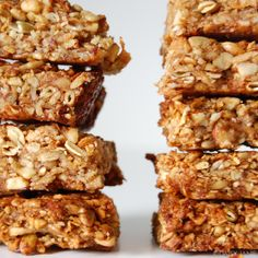 Jan DiCintio of Daisy Jane shares a tasty-looking recipe for these oat-free, grain free trail bars. Why no grains? The answer is multi-layered, but here's Primal Recipes, Gf Recipes, Gluten Free Recipes, Low Carb Recipes, Snack Recipes, Healthy Recipes, Healthy Protein Snacks, Healthy Treats, Protein Bars