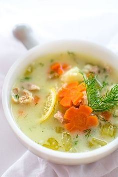 Greek Chicken Lemon Soup. This brightly flavored chicken and rice soup will become your favorite in no time! ❤ COOKTORIA.COM