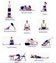 Some Iyengar Yoga Poses