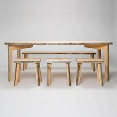 Deadwood by Uhtua Design in Finland: Made from old pine trees that have dried standing for several decades and shed their bark. Handmade Furniture, Wood Furniture, Furniture Design, Nordic Design, Scandinavian Design, Dining Table Design, Dining Bench, Healthy Eating Games, Used Stuff For Sale