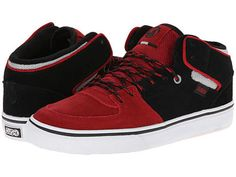 2f908287cd220 DVS Skate Torey Black/Red Suede Mid Top Leather Shoes Athletic Sneakers #DVS  #