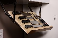 The Ultimate Under Cabinet Knife Storage | The Drop Block
