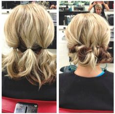 Want some easy hairstyles? Even better - easy hairstyles for dirty hair? Click through for 7 simple hairdos even the laziest of us can pull off! Up Dos For Medium Hair, Medium Hair Styles, Curly Hair Styles, Hair Medium, Short Styles, Medium Hair Updo Easy, Updo For Short Hair, Hairstyle For Medium Length Hair, Simple Hairstyles For Medium Hair