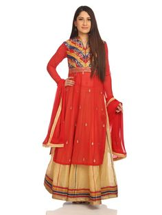 Deck yourself in these grand designer salwar suits by BIBA, that are reminiscent of the royal garments. Hurry now before stock runs out!